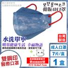明基 雙鋼印 幸福物語4D醫療口罩 (水洗單寧) 7入 (台灣製 立體口罩 魚型口罩 韓國KF94) 專品藥局