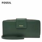 FOSSIL MADISON 真皮多層按扣長夾-雲杉綠 SWL2228366