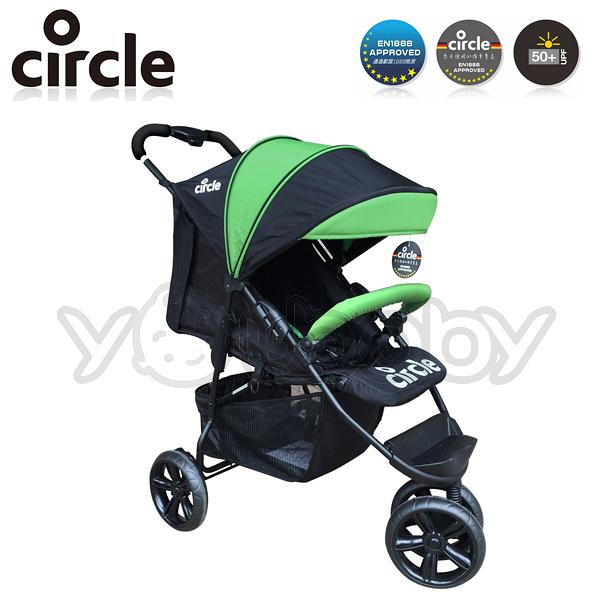 Circle Treviso 3S 德式三輪單向嬰兒手推車 -綠