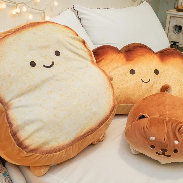 麵包家族抱枕-麵包爸爸 可愛療癒 棉床本舖