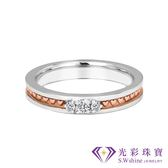 【光彩珠寶】婚戒 18K金結婚戒指 女戒 玫瑰之愛