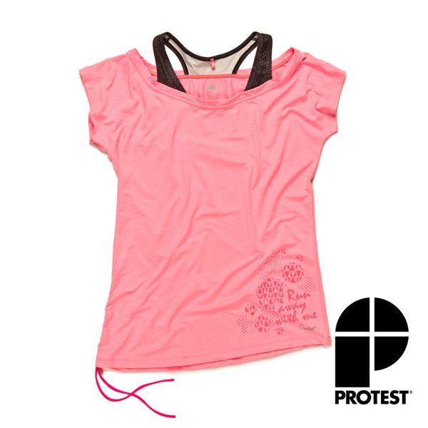 PROTEST 女FIT機能運動T恤 (魅力粉)GUNTON T-SHIRT