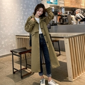 【藍色巴黎】韓國時尚英倫風寬鬆長版風衣外套/長大衣 【28960】
