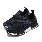 【海外限定】adidas 休閒鞋 NMD_R1 STLT W PK 黑 白 女鞋 編織 PrimeKnit 鞋面 運動鞋【ACS】 AC8326