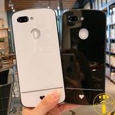 oppo reno手機殼RenoZ玻璃保護套簡約愛心手機殼外殼【雲木雜貨】
