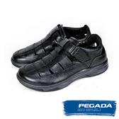 【PEGADA】巴西名品真皮休閒鞋/涼鞋  黑色(132261-BL)