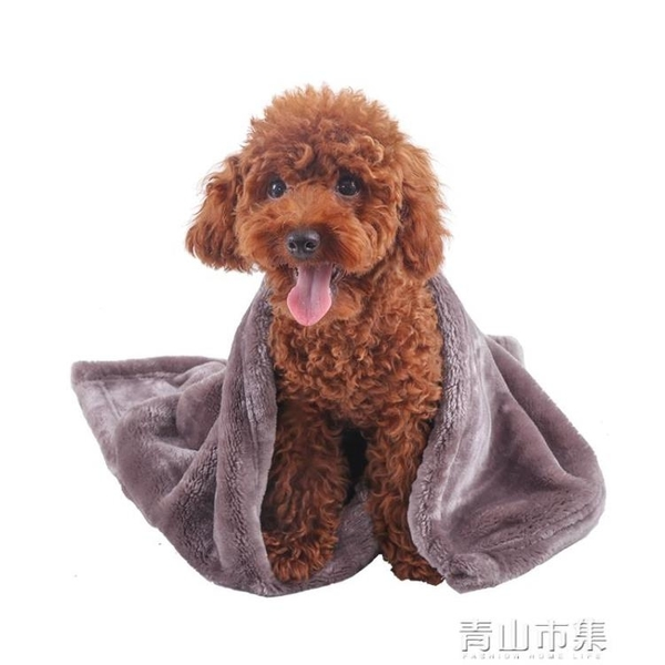 狗狗被子睡墊秋冬耐咬貓咪寵物毛毯加厚毯子床墊棉墊窩墊狗狗墊子 青山市集