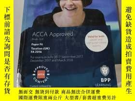 二手書博民逛書店ACCA罕見Approved study Text paper F6:ACCA認可學習資料紙F6(外文)Y21
