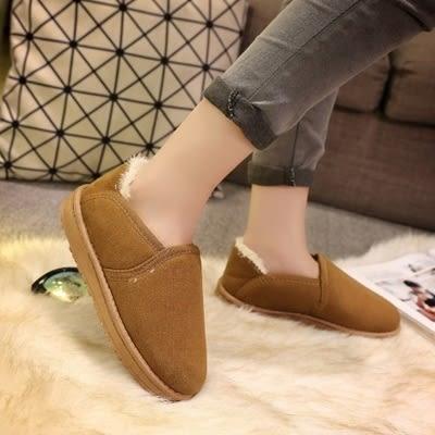 低筒雪靴-時尚簡約百搭保暖女厚底靴子3色73kg59【巴黎精品】