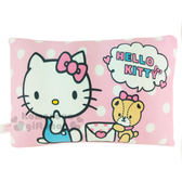 〔小禮堂〕Hello Kitty 方型小抱枕《粉.白點點.坐姿.信封.小熊》靠墊.枕頭 4713052-38324