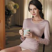 華歌爾-磨毛M-LL長袖圓領美姿衣(粉膚)保暖親膚LT293818-L2