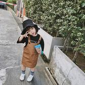 可愛2018春季新款正韓兒童背帶裙休閒可愛女童純色吊帶裙潮禮物限時八九折