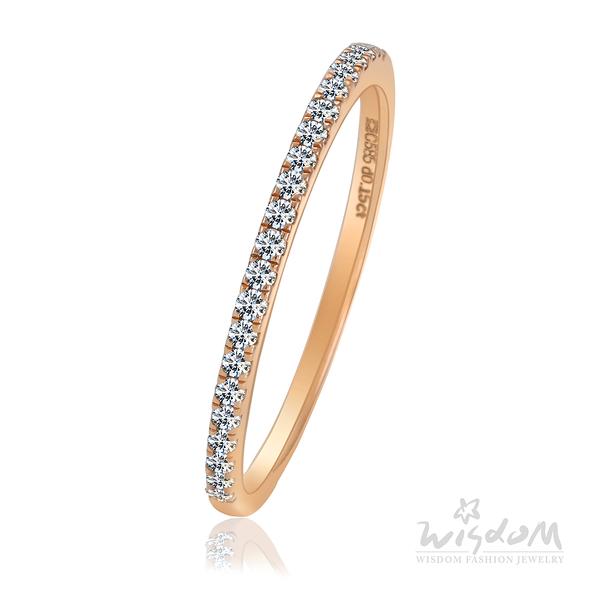 威世登 浪漫主義 玫瑰金鑽石戒指 婚戒推薦 情人節禮物 DA03254-1-BXIXX