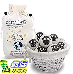 [106美國直購] Friendsheep Nepal 烘衣柔軟球小羊 Organic Eco Wool Dryer Balls 6 Pack