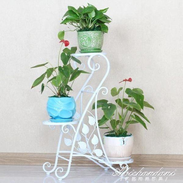 歐式鐵藝創意多層花架綠蘿實木花架子陽台客廳室內落地花盆架 igo黛尼時尚精品