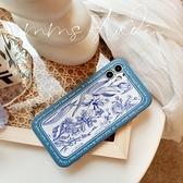 法式藍調復古蘋果手機殼iphone13/12Pro/11Promax/Xr/Xs/78Plus防摔保護套