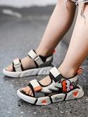 涼鞋-兒童涼鞋男童涼鞋2020新款夏季運動帥氣軟底男孩沙灘中大童鞋