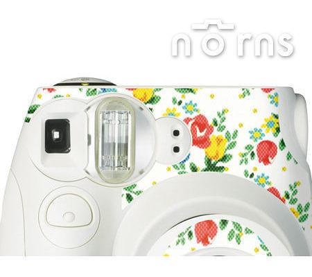 Norns MINI7S 專用FUJIFILM日本富士原廠拍立得相機機身貼紙【White Rose款】Norns