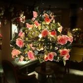 吊燈 玫瑰花植物音樂餐廳網紅店鋪裝飾酒吧烤吧咖啡廳 - 雙十二交換禮物