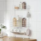 浴室洗漱臺置物架落地 衛生間鐵藝架子雙層置物架衛浴收納 雲朵走走
