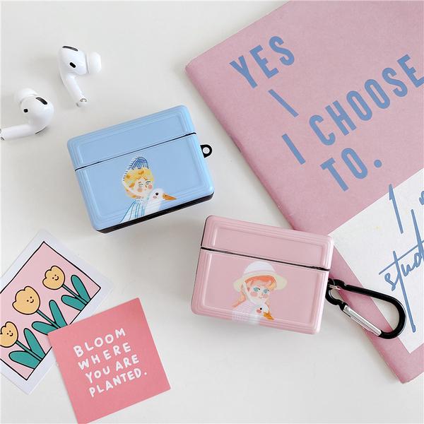 Airpods Pro 專用 1/2代 台灣發貨 [ 抱天鵝男孩女孩 ] 藍芽耳機保護套 蘋果無線耳機保護