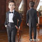 兒童禮服男童燕尾服花童婚禮主持人西裝套裝zzy5903『時尚玩家』