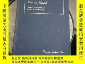 二手書博民逛書店CASES罕見AND MATERIALS CONSTITUTIONAL LAW【有橫線,字跡】Y5803