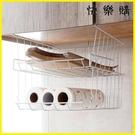 【快樂購】廚房收納 鐵藝櫥柜置物架桌下掛籃收納架廚房隔層掛架