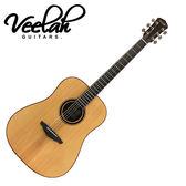 【敦煌樂器】VEELAH V6-D 前後單板民謠木吉他 原木色款