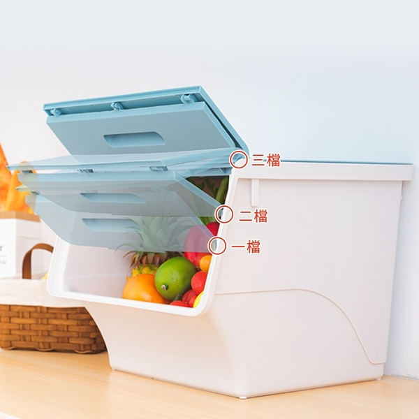 堆疊 掀蓋式收納箱-45L 收納整理箱 收納盒 收納置物箱-寬38.5X深38X高31cm【I061】