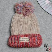 帽子女天潮針織帽毛球保暖護耳帽休閒百搭毛線帽【尾牙交換禮物】