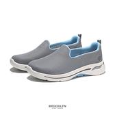 SKECHERS 休閒鞋 GO WALK ARCH FIT 寬楦 灰藍 懶人鞋 女 (布魯克林) 124401WGYBL