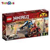 玩具反斗城 樂高LEGO 忍者系列 70667 赤地的刀鋒轉輪車及冰忍的雪地摩托車