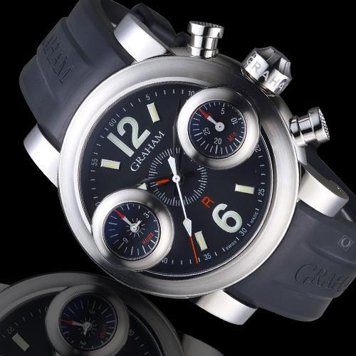 GRAHAM格林漢 三冠霸王劍魚計時紳士腕錶 2SWAS.B01A.K06B