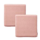 (組)新素色記憶棉坐墊40x40x4cm 梅粉色2入