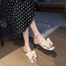 2021涼拖鞋女新款外出粗跟百搭時尚一字拖鞋女夏高跟網紅ins外穿 【快速出貨】