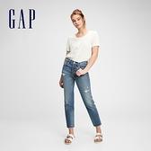 Gap女裝 純棉基本款打底短袖T恤 884314-白色