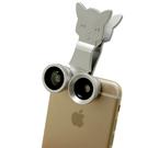 Catlens 三合一小貓造型鏡頭夾 自拍 風景 廣角 魚眼 微距