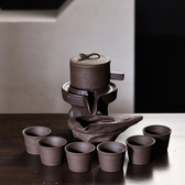 茶具套裝 家用石磨創意陶瓷茶壺茶盤功夫茶杯半全自動懶人泡茶器WY 快速出貨