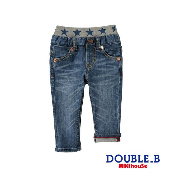DOUBLE_B Every day黑熊刺繡牛仔長褲