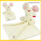 玩具 碎花小老鼠幼兒柔軟安撫巾 響紙 玩偶