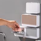 肥皂架 創意肥皂盒帶蓋香皂盒壁掛雙格瀝水免打孔翻蓋皂盒衛生間洗衣皂盒【快速出貨八折鉅惠】
