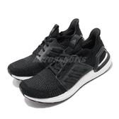 adidas 慢跑鞋 UltraBOOST 19 黑 白 運動鞋 男鞋 【PUMP306】 G54009