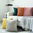 北歐風抱枕天鵝絨客廳沙發靠枕抱枕套飄窗臥室床頭【母親節禮物】
