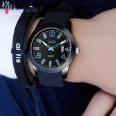 兒童手錶男學生潮流青少年防水夜光酷電子錶