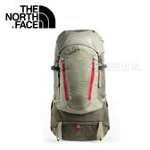 【The North Face 65L 專業登山包《山苔綠/龐貝紅》】A1N9/人體工學/後背包/大容量