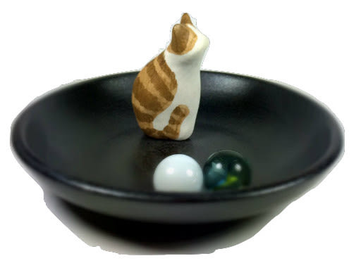 EZen 逸禪坊 療癒系 精緻 純手作 陶瓷放鬆小貓石 禪意十足 (1st Set)