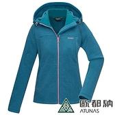 【南紡購物中心】【歐都納】女款PRIMALOFT刷毛保暖外套/刷毛外套(湖綠)