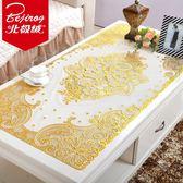 餐桌墊北極絨燙金桌布PVC防燙免洗茶幾墊餐桌布台布長方形桌墊餐墊