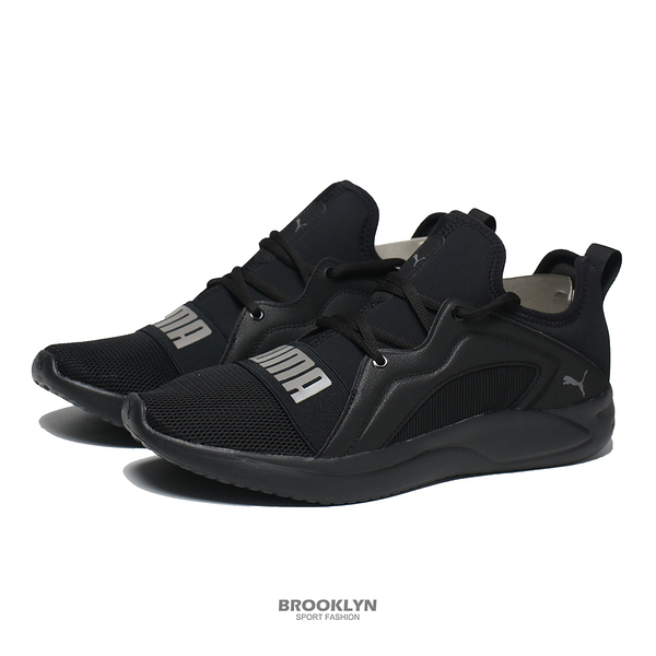 PUMA 慢跑鞋 RESOLVE STREET 全黑 慢跑 運動鞋 男 (布魯克林) 19506207